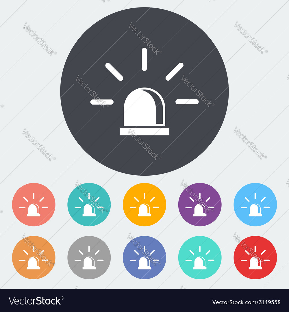 Police single icon vector | Price: 1 Credit (USD $1)