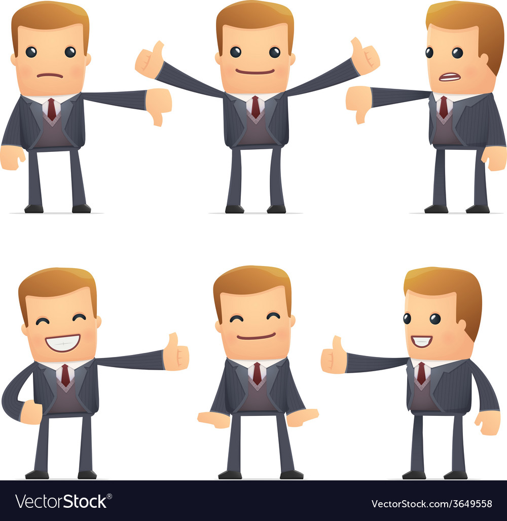 Set of advisor character in different poses vector   Price: 1 Credit (USD $1)