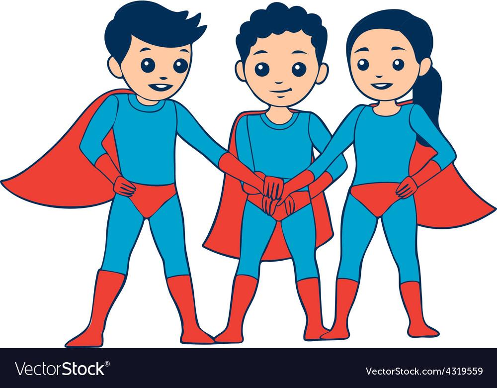 3 heroes vector