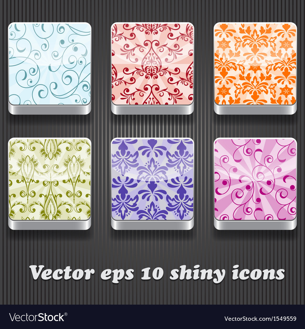 6 shiny icons vector | Price: 1 Credit (USD $1)