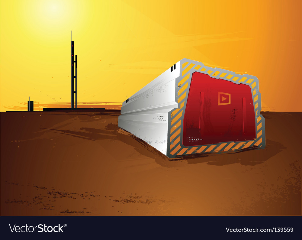 Abstract industrial landscape vector | Price: 3 Credit (USD $3)