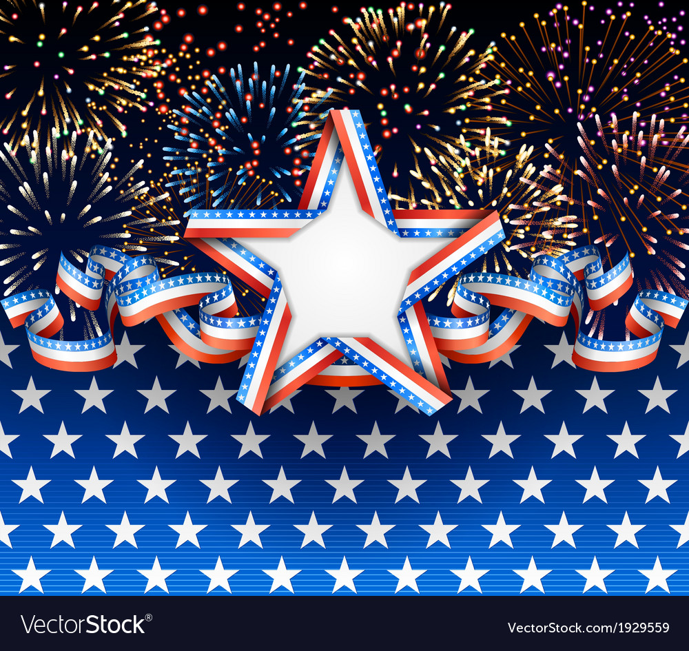 American background with fireworks vector | Price: 1 Credit (USD $1)