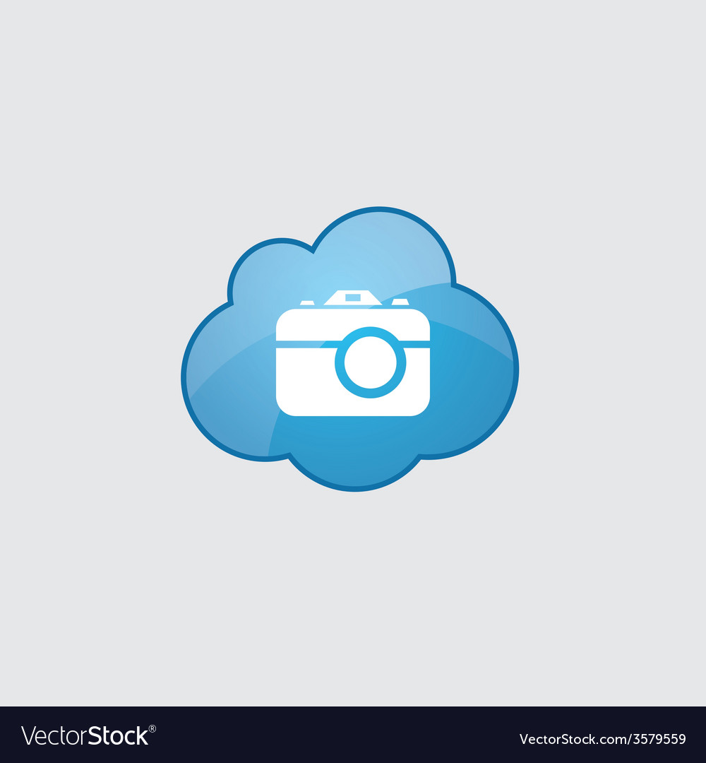 Blue cloud camera icon vector | Price: 1 Credit (USD $1)