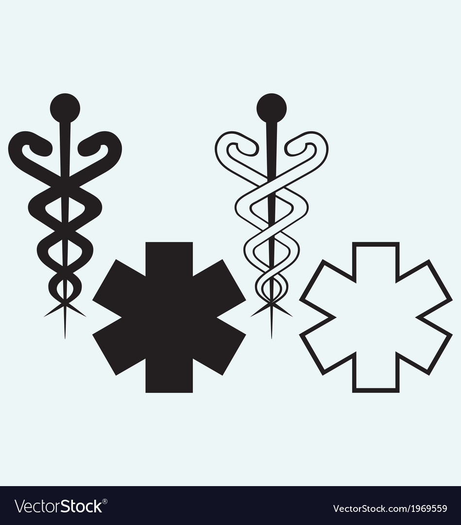 Caduceus medical sign vector | Price: 1 Credit (USD $1)