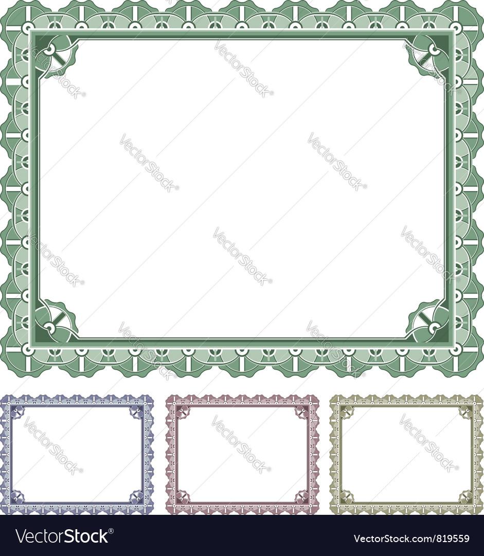 Certificate award vector | Price: 1 Credit (USD $1)