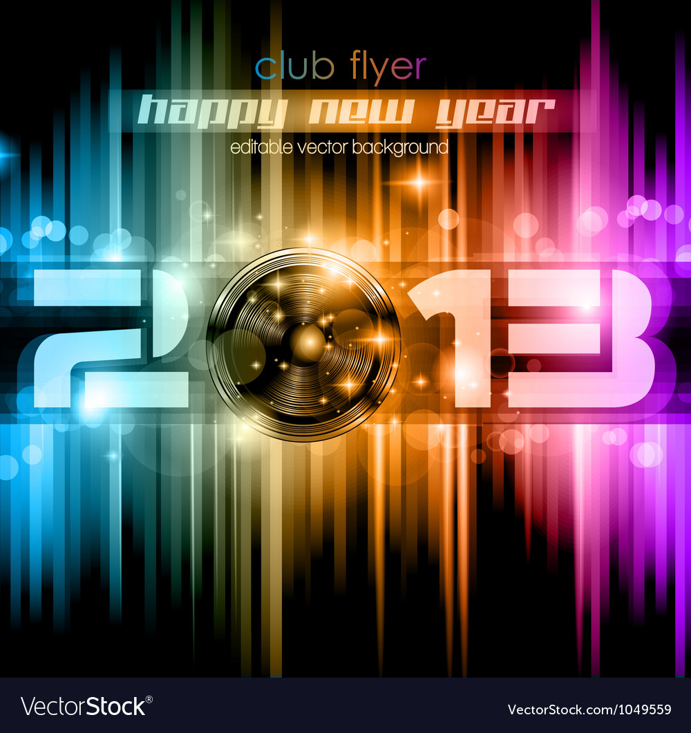 Colorful 2013 new year celebration background vector | Price: 1 Credit (USD $1)