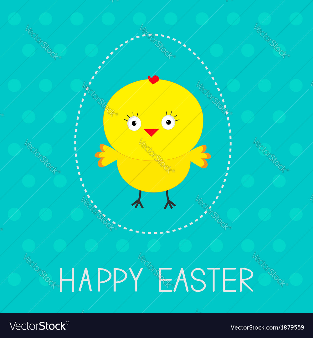 Easter chicken and dash egg dot pattern card vector | Price: 1 Credit (USD $1)