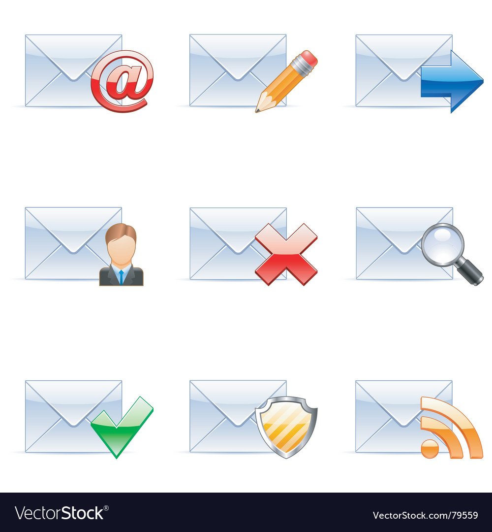 E-mail icons vector | Price: 1 Credit (USD $1)