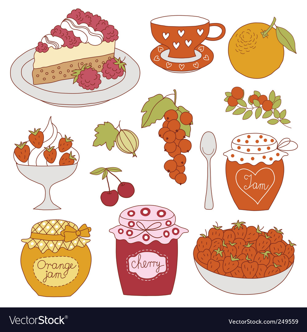 Fruit dessert vector | Price: 1 Credit (USD $1)