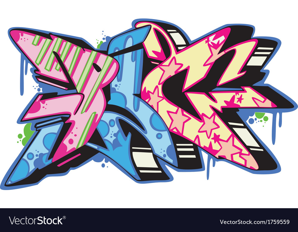 Graffito - pig vector | Price: 1 Credit (USD $1)