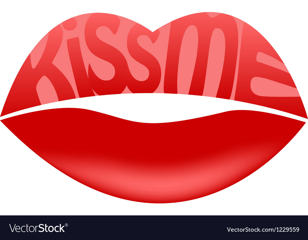 Kiss me vector   Price: 1 Credit (USD $1)