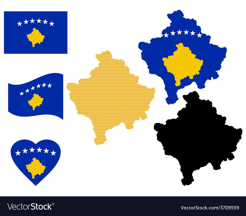 Map of kosovo vector | Price: 1 Credit (USD $1)