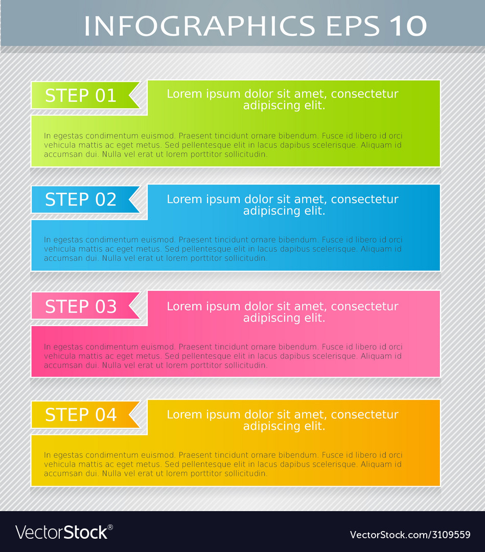 Modern infographics colorful design template with vector | Price: 1 Credit (USD $1)