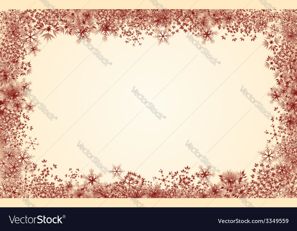 Red snowflake frame vector | Price: 1 Credit (USD $1)