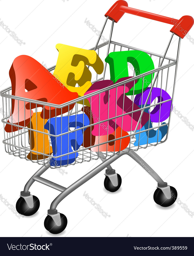 Shopping cart ace vector | Price: 1 Credit (USD $1)