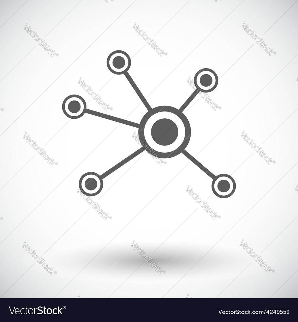 Social network single icon vector | Price: 1 Credit (USD $1)