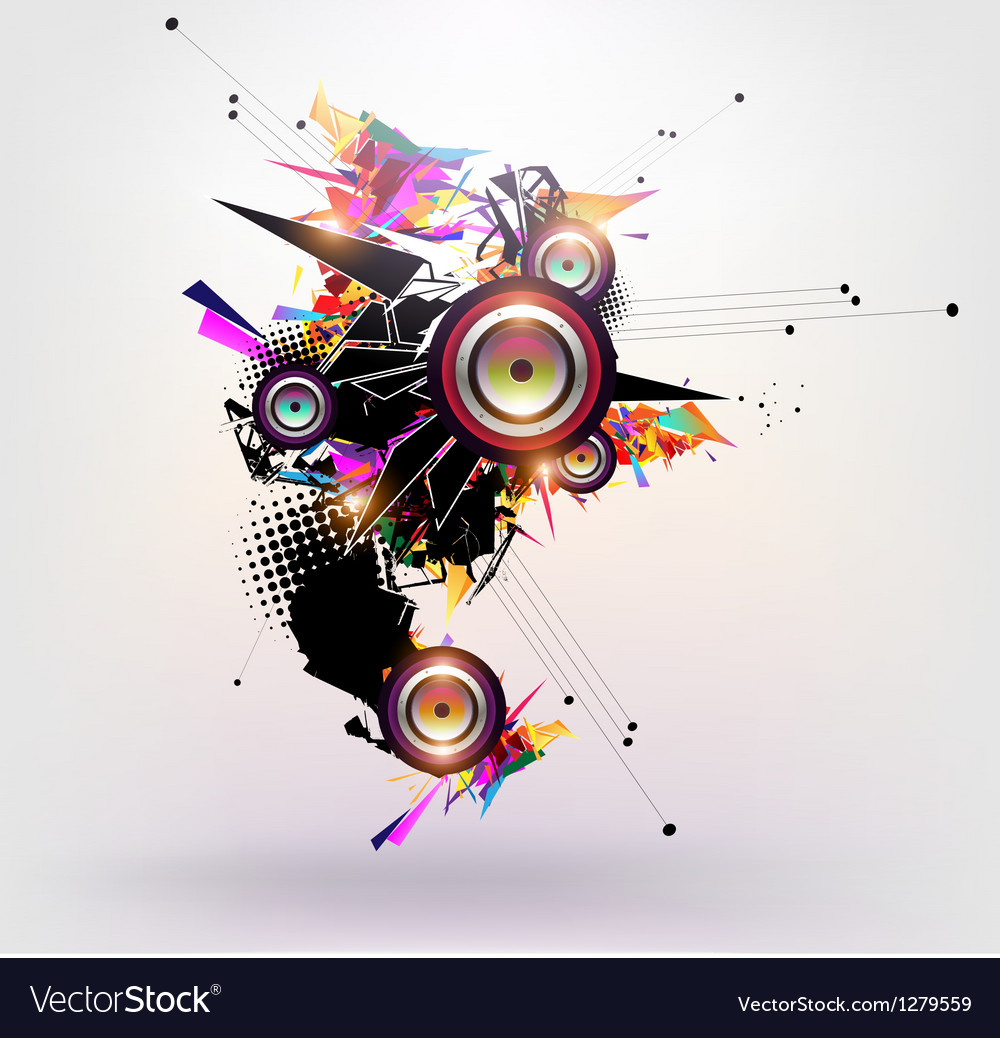 Speakers design vector | Price: 1 Credit (USD $1)