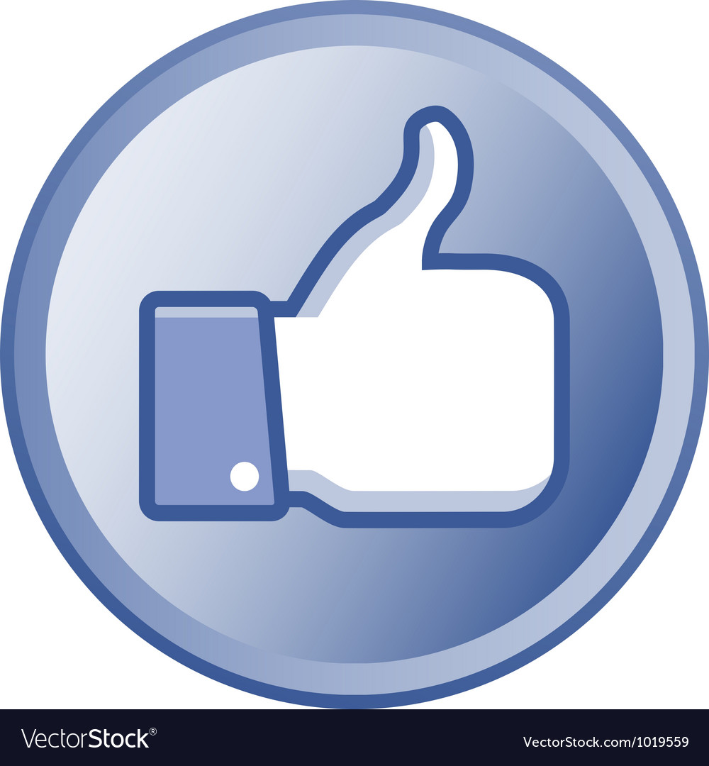 Thumb up round button vector   Price: 1 Credit (USD $1)