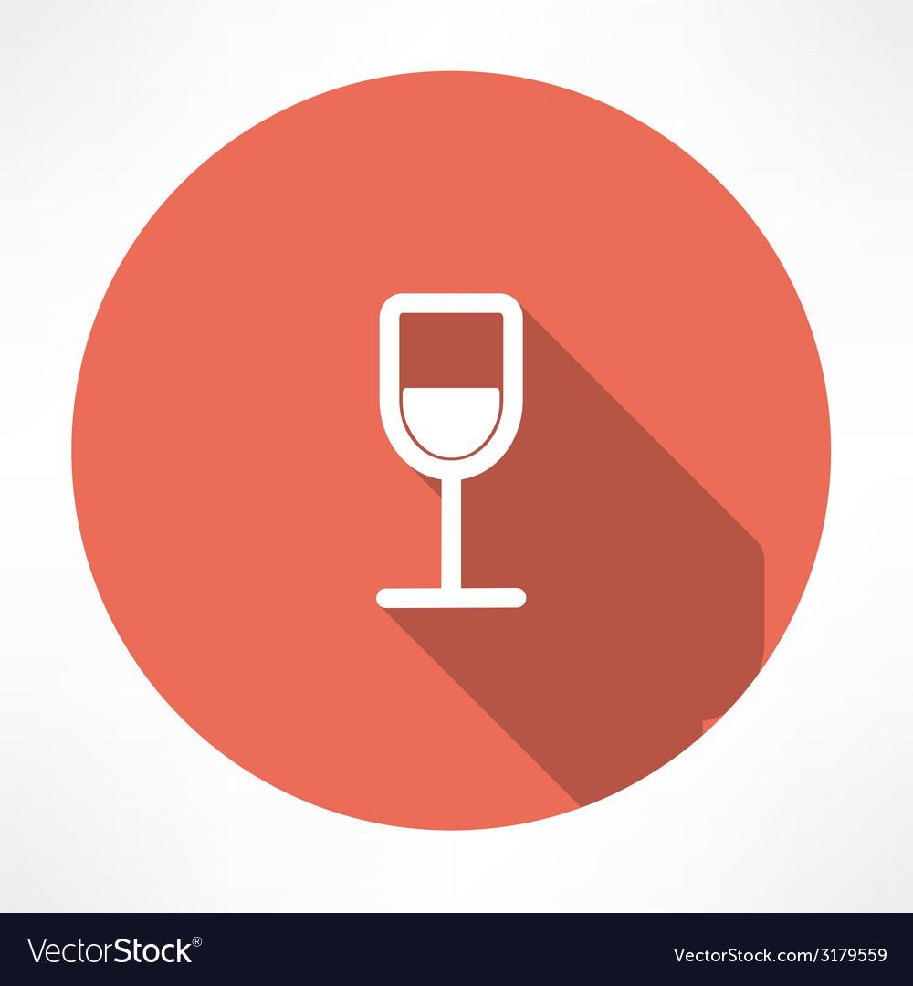 Wine glasses icon vector | Price: 1 Credit (USD $1)