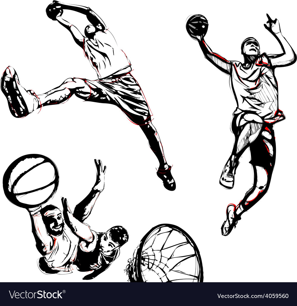 Basketball trio vector | Price: 1 Credit (USD $1)