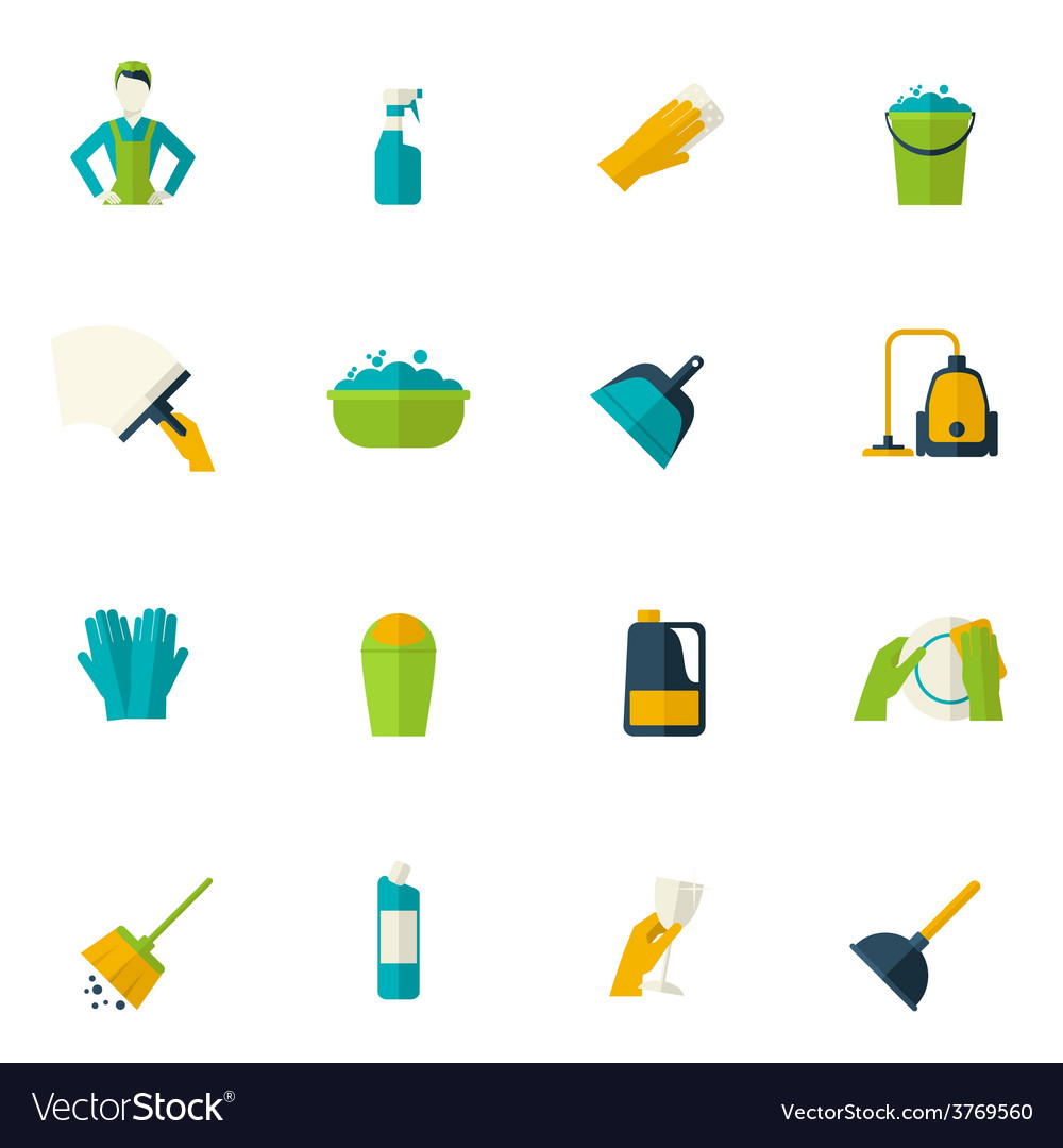 Cleaning icon flat vector | Price: 1 Credit (USD $1)