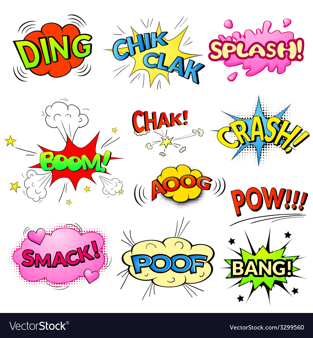 Comic bubbles isolated set vector | Price: 1 Credit (USD $1)
