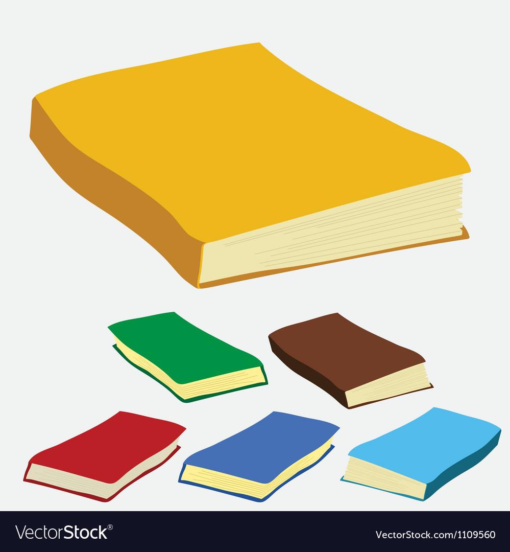 Empty white books vector | Price: 1 Credit (USD $1)