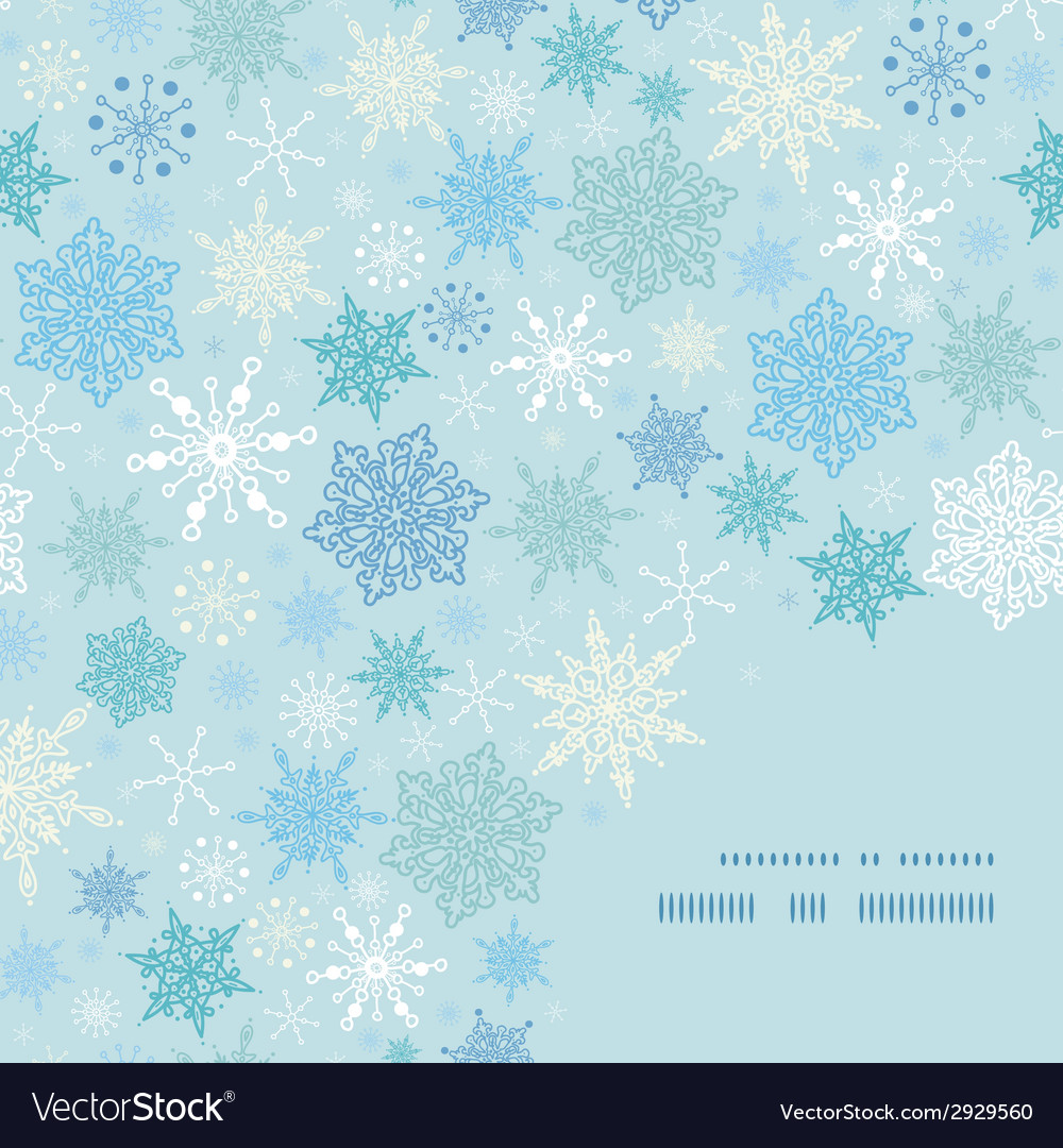 Falling snow frame corner pattern background vector | Price: 1 Credit (USD $1)
