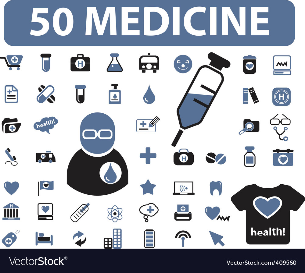 Medicine signs vector | Price: 1 Credit (USD $1)