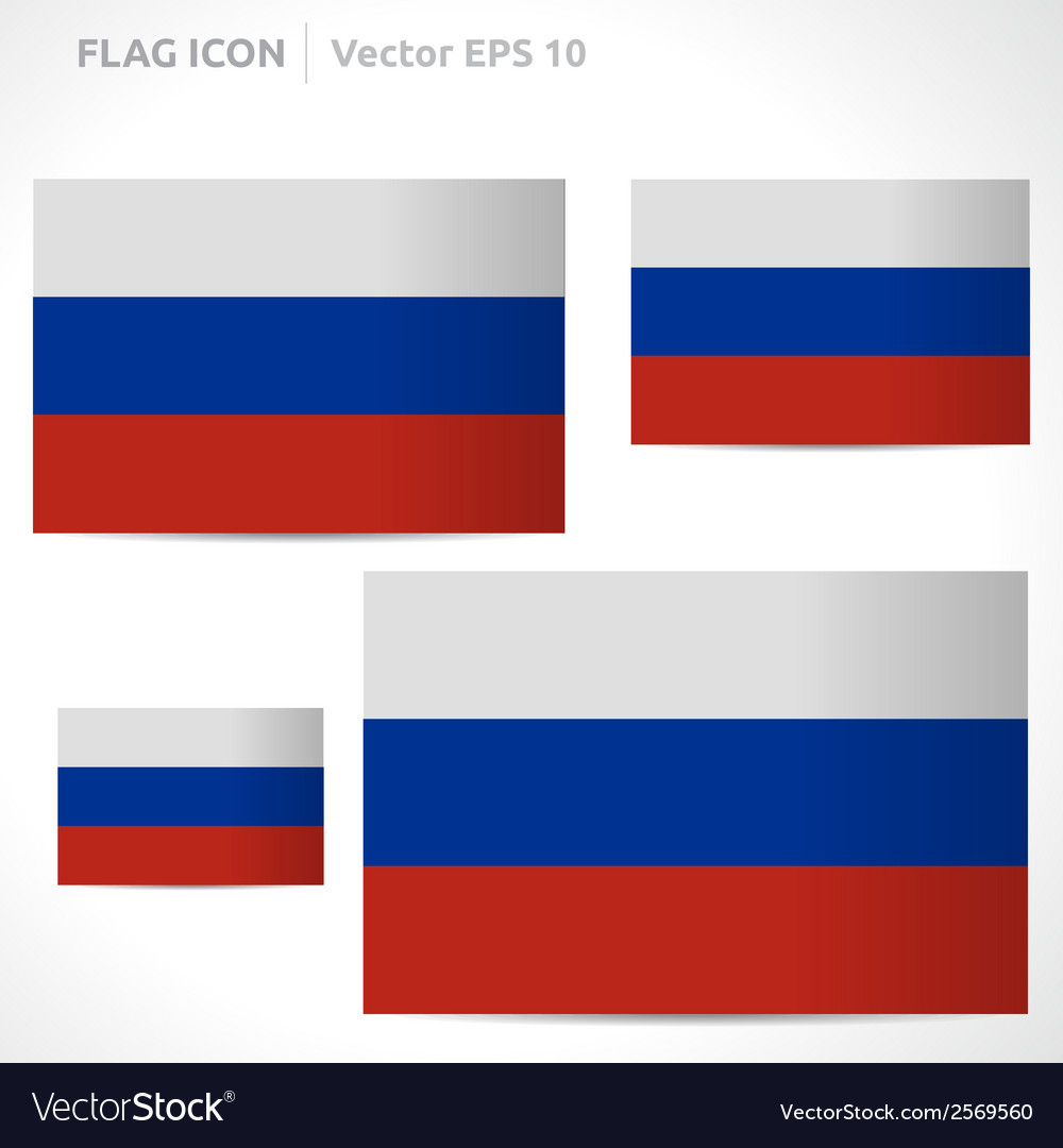 Russia flag template vector | Price: 1 Credit (USD $1)