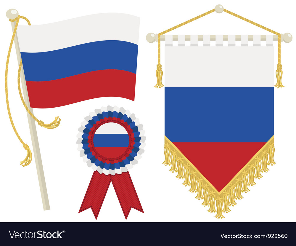Russia flags vector | Price: 1 Credit (USD $1)
