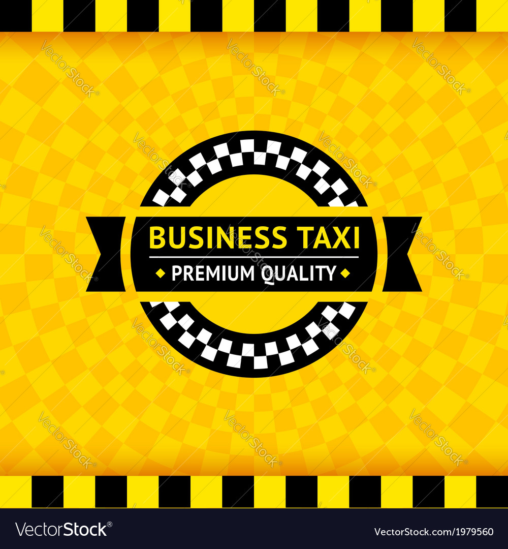 Taxi symbol with checkered background - 01 vector | Price: 1 Credit (USD $1)