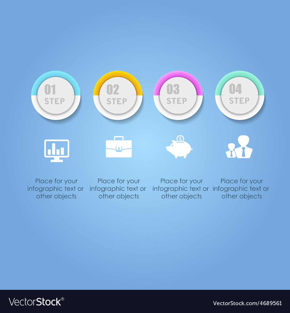 Abstract digital infographic business vector | Price: 1 Credit (USD $1)