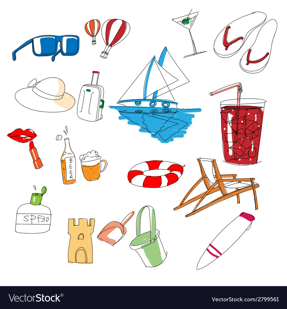 All kinds of travel stuff vector | Price: 1 Credit (USD $1)