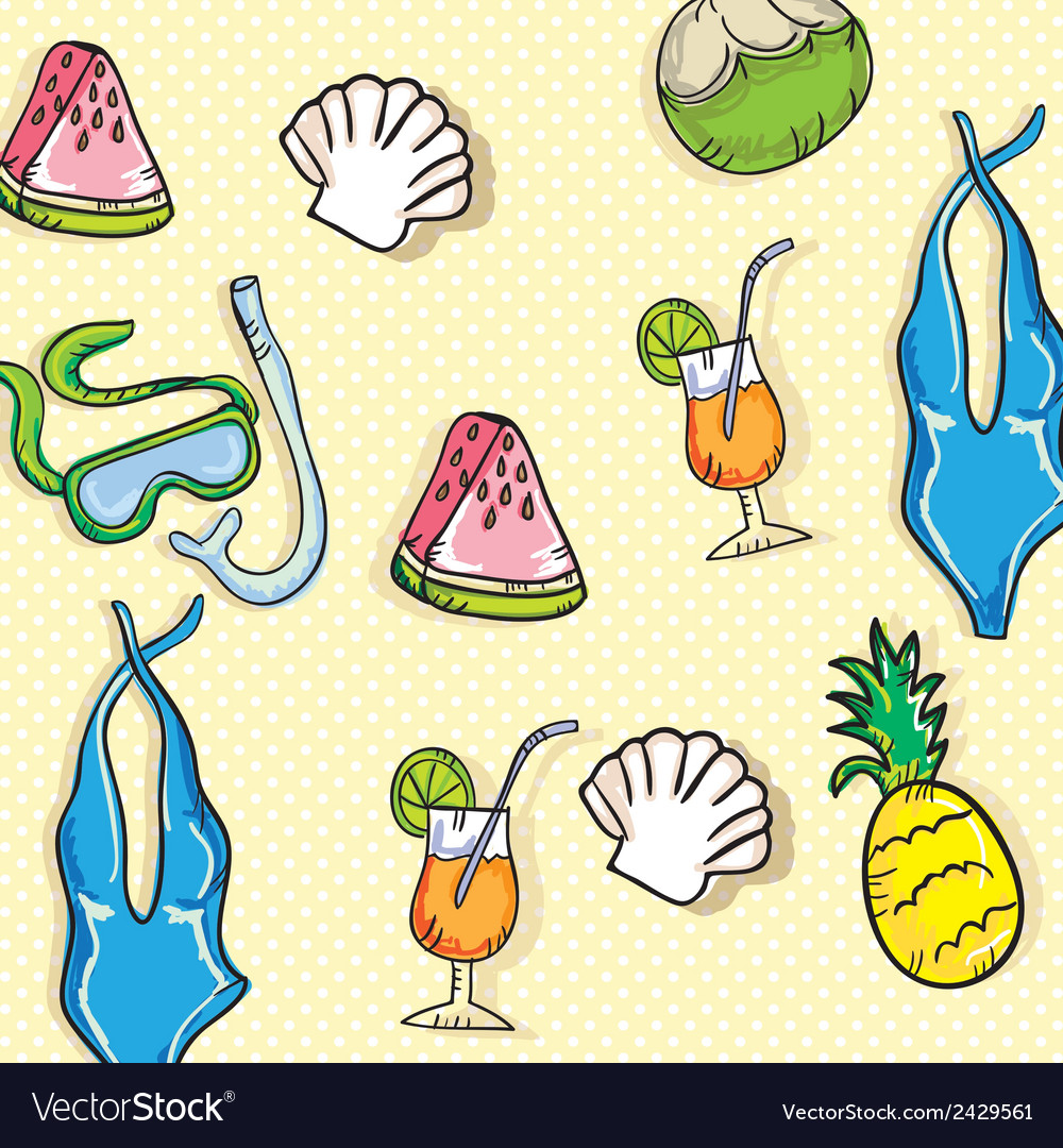 Beach vacations travel vector | Price: 1 Credit (USD $1)
