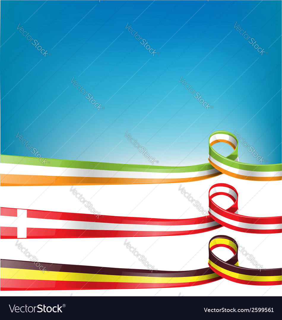 Belgium switzerland and ireland flag set vector | Price: 1 Credit (USD $1)