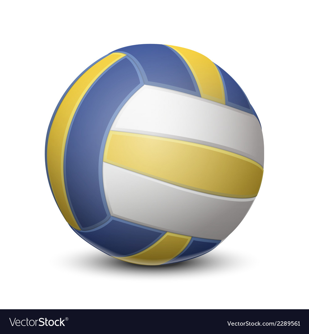 Blue and yellow volleyball ball vector | Price: 1 Credit (USD $1)