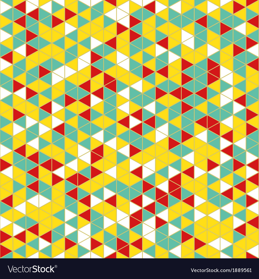 Colorful geometric seamless pattern vector | Price: 1 Credit (USD $1)