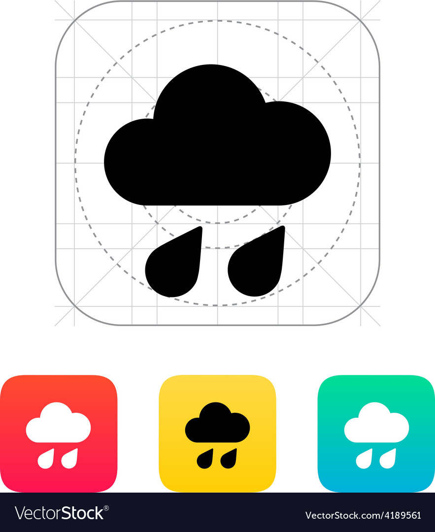 Downpour weather icon vector | Price: 1 Credit (USD $1)