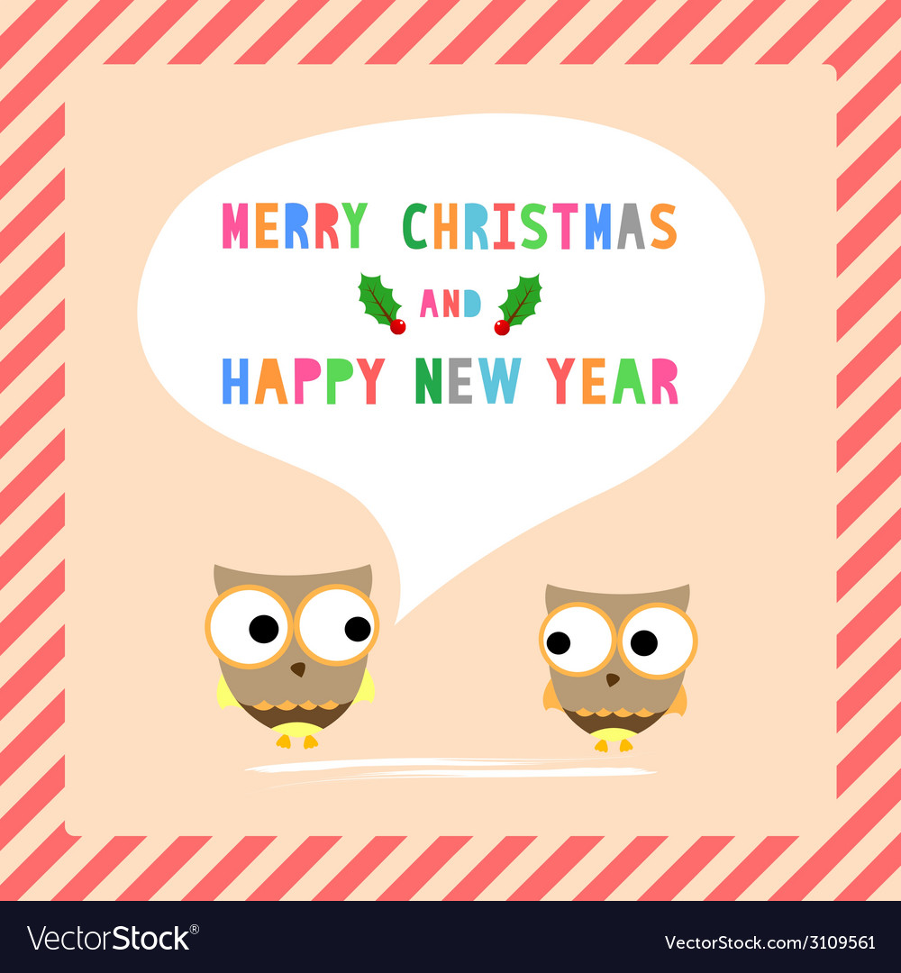 Mc and hny greeting card10 vector | Price: 1 Credit (USD $1)