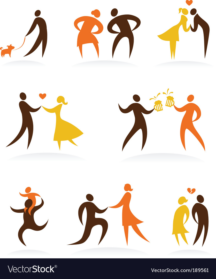 People symbols vector | Price: 1 Credit (USD $1)