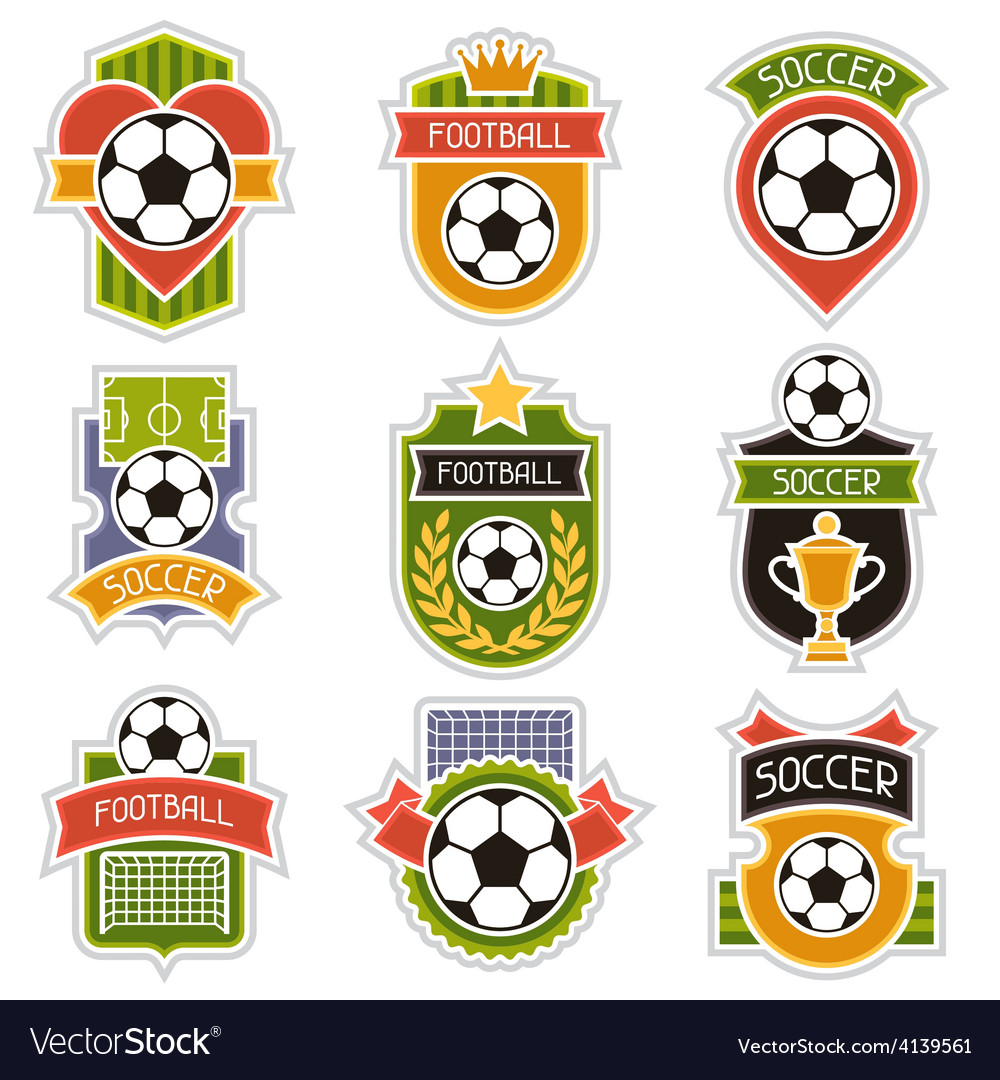 Set of sports soccer football badges vector | Price: 1 Credit (USD $1)