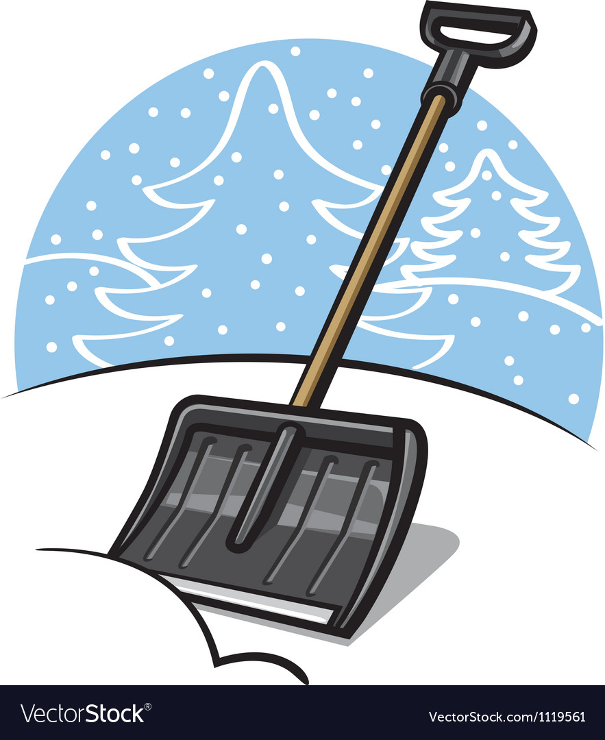 Snow shovel vector | Price: 1 Credit (USD $1)