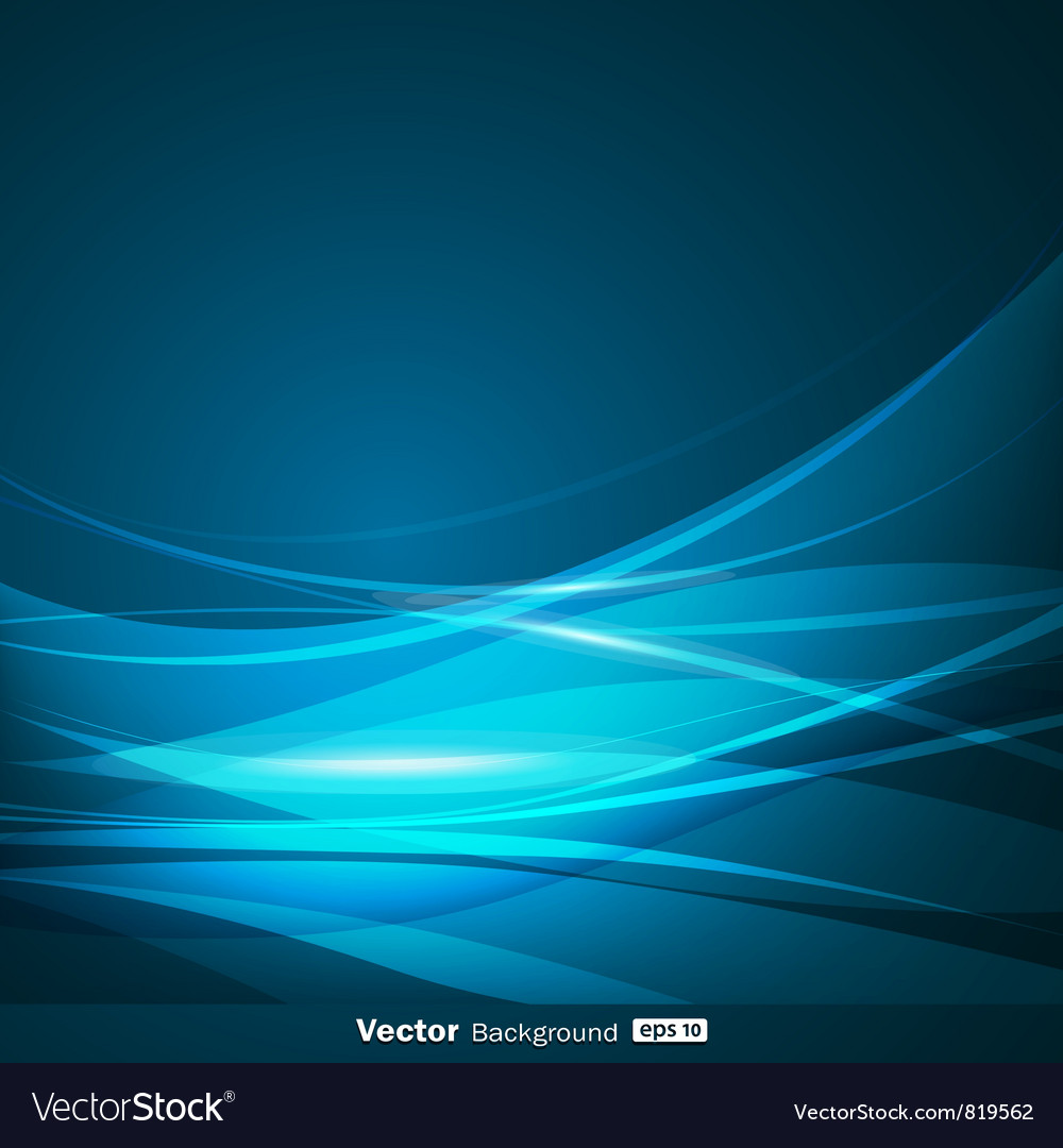 Abstract blue wave background vector   Price: 1 Credit (USD $1)