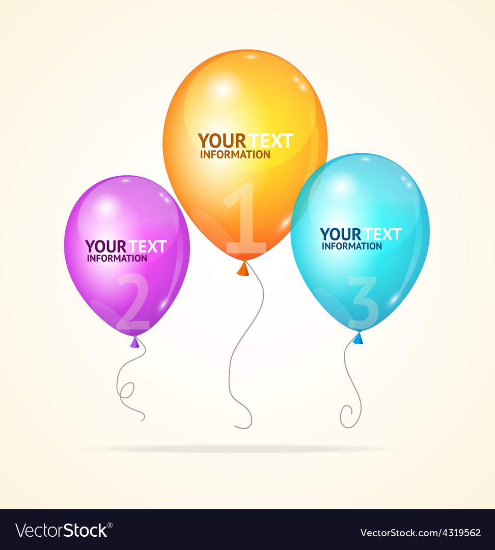 Ballon option banner vector | Price: 1 Credit (USD $1)