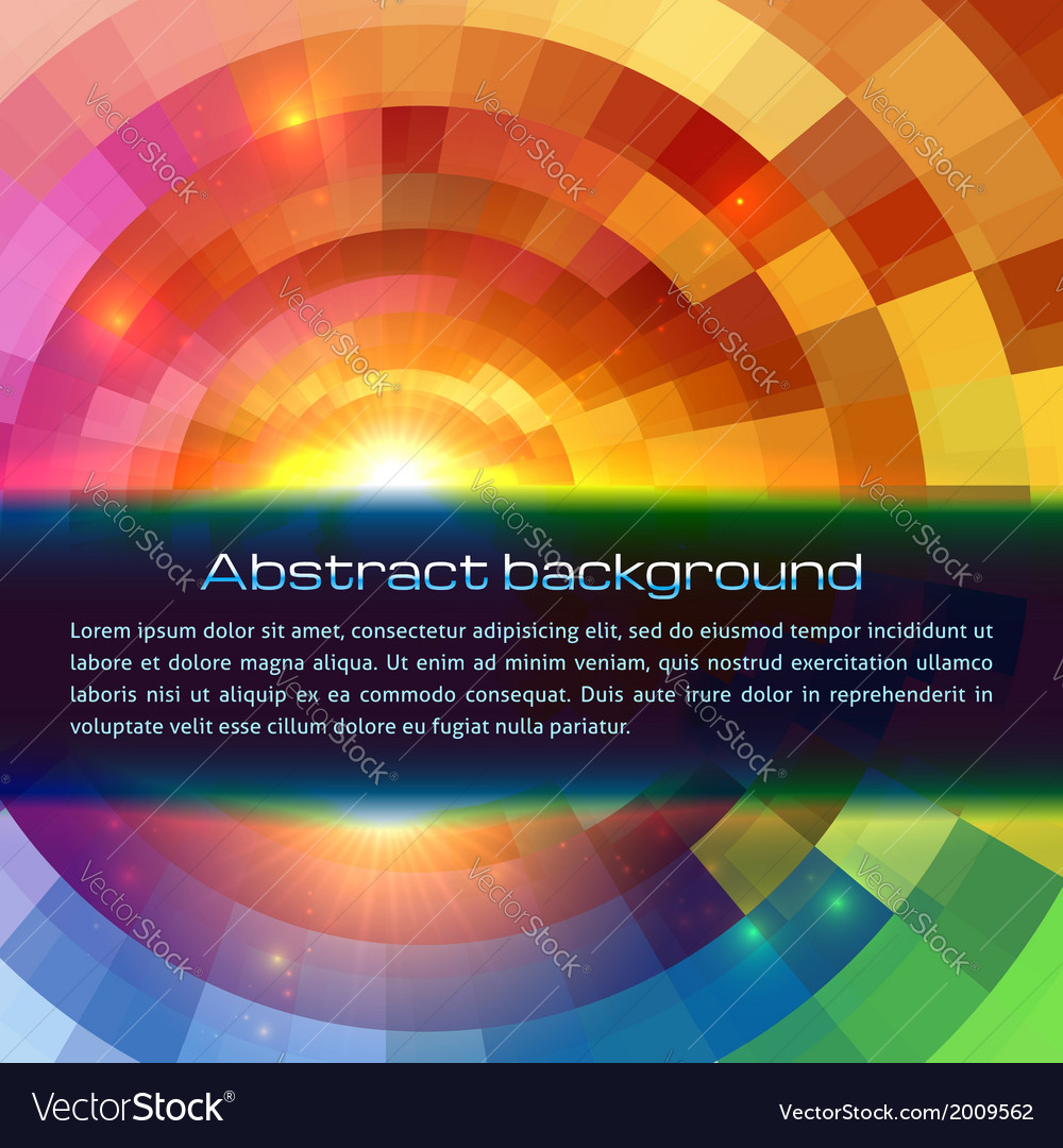 Colorful shining abstract sun background vector | Price: 1 Credit (USD $1)
