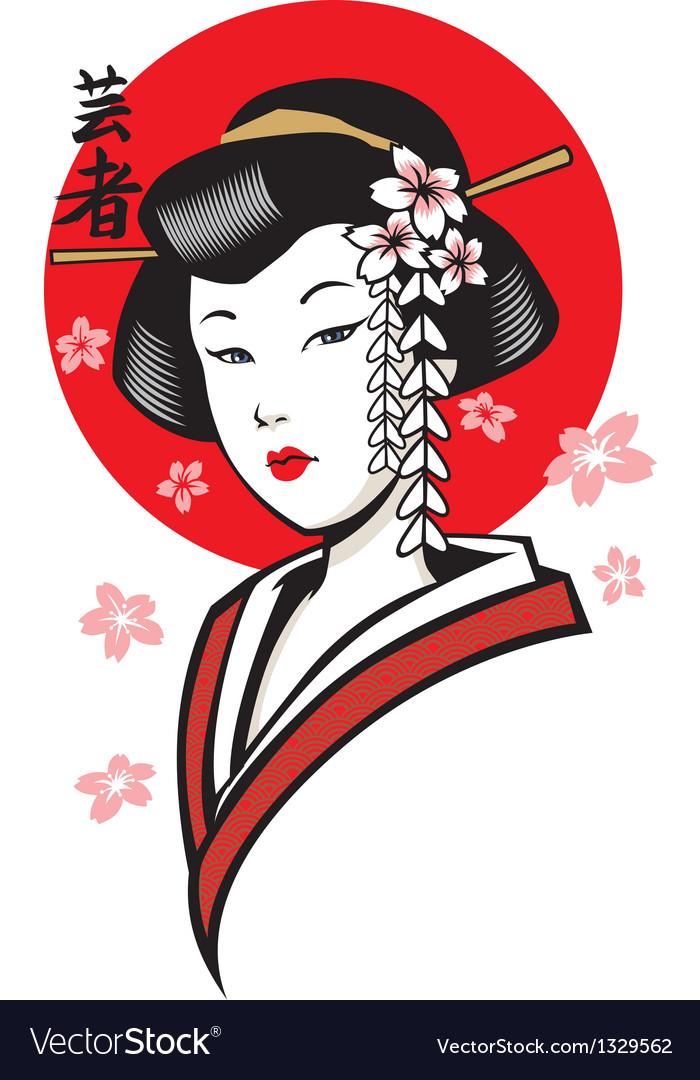 Geisha vector   Price: 3 Credit (USD $3)
