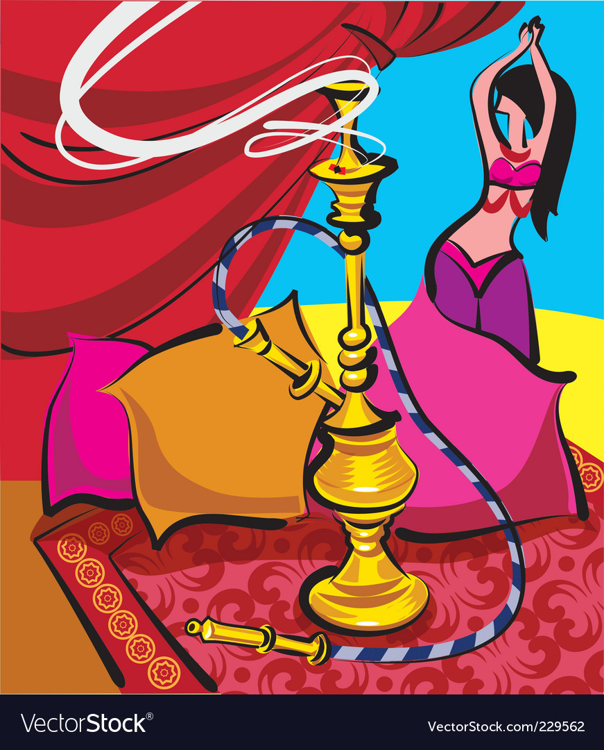 Hookah and belly dance vector | Price: 3 Credit (USD $3)