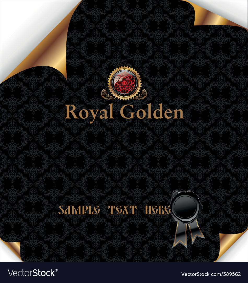 Royal background with wax seal vector | Price: 1 Credit (USD $1)