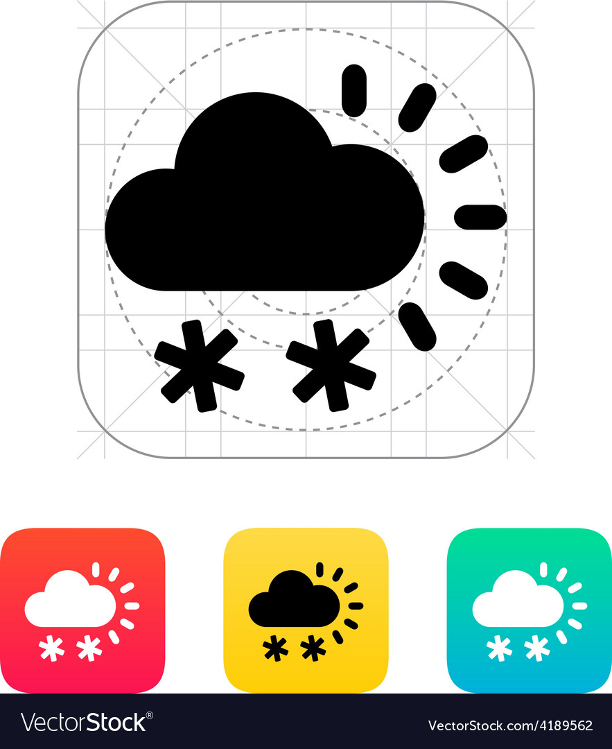 Snowfall weather icon vector | Price: 1 Credit (USD $1)